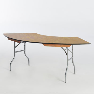 29b. Serpentine Table Large-No Riser