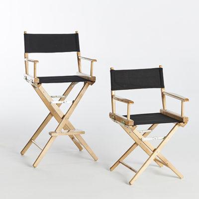 Black Directors Chairs-Short & Tall